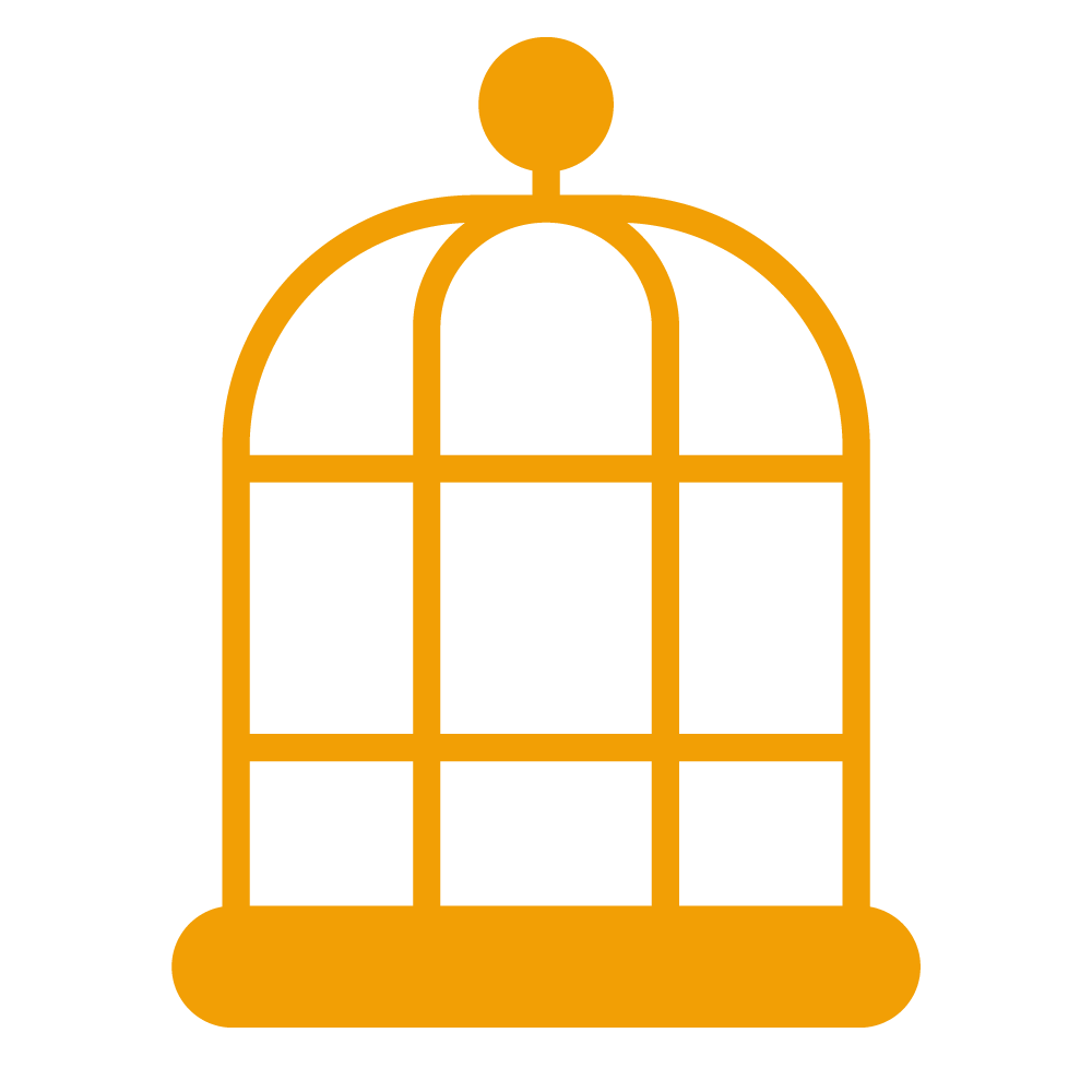wireframe icon of birdcage